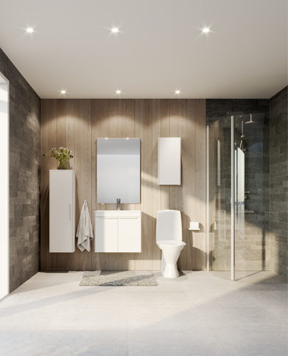 Ifö spira toalett monterad i badrum