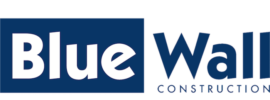 Bluewall construction logo